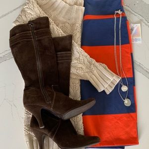 LuLaRoe Cassie Striped Stretch Mini Skirt S NWT